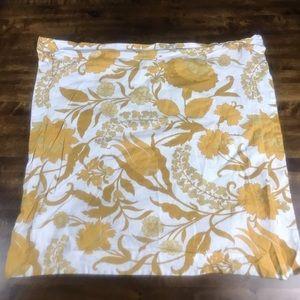 Pottery Barn Yellow White Euro Pillow Cover 29x29